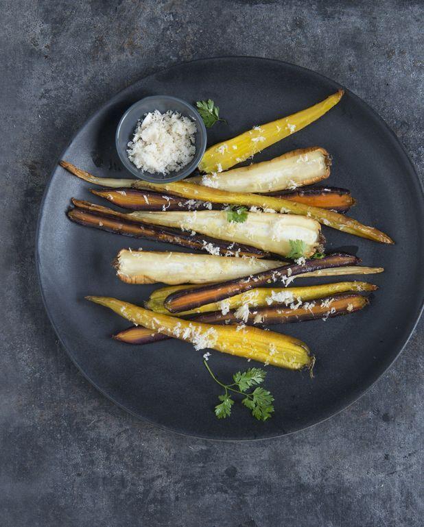 Légumes grillés et racine de raifort