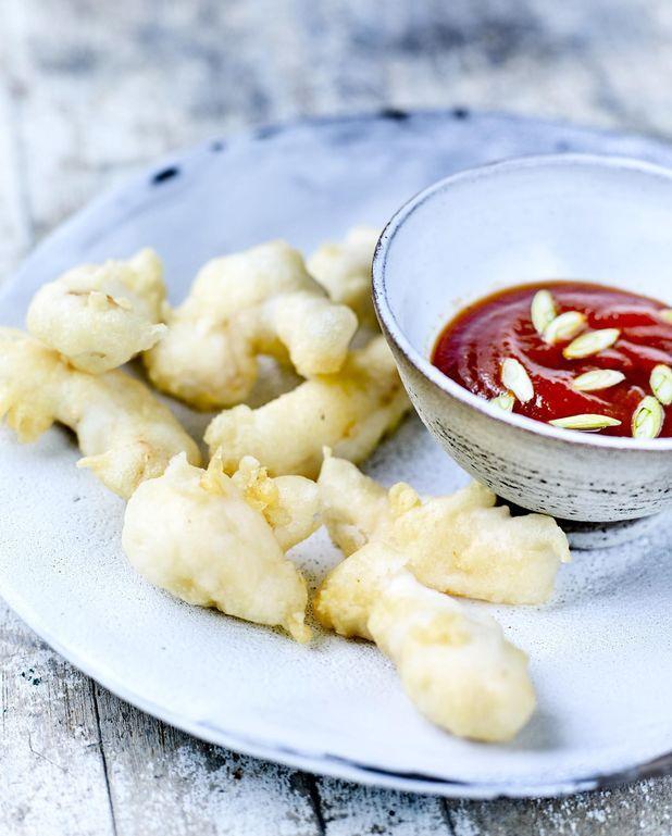 Limande–sole en tempura, sauce piquante