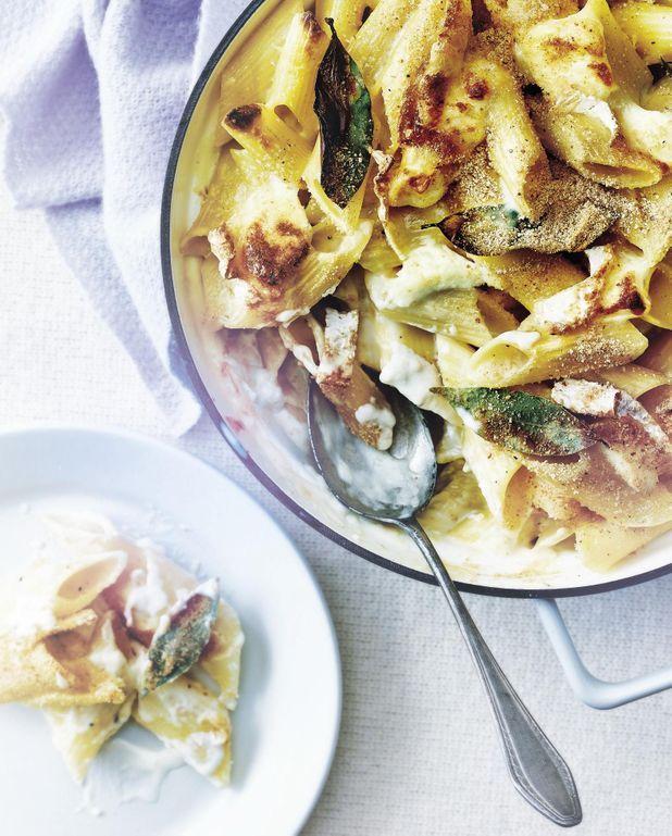 Macaroni and cheese au chaource