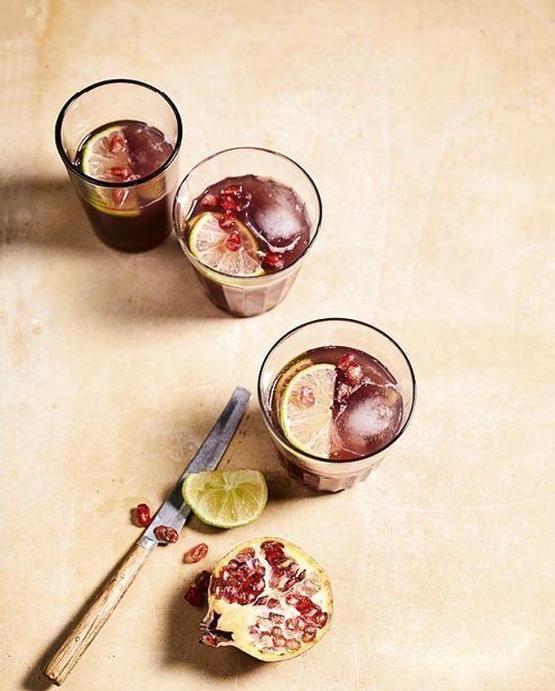 Mocktail Vichy Célestins, grenade, gingembre et citron vert