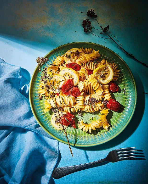 One pot pasta au citron et tomates-cerises