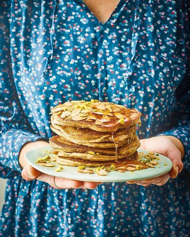 Pancakes au lait d'amande, banane et farine de blés anciens