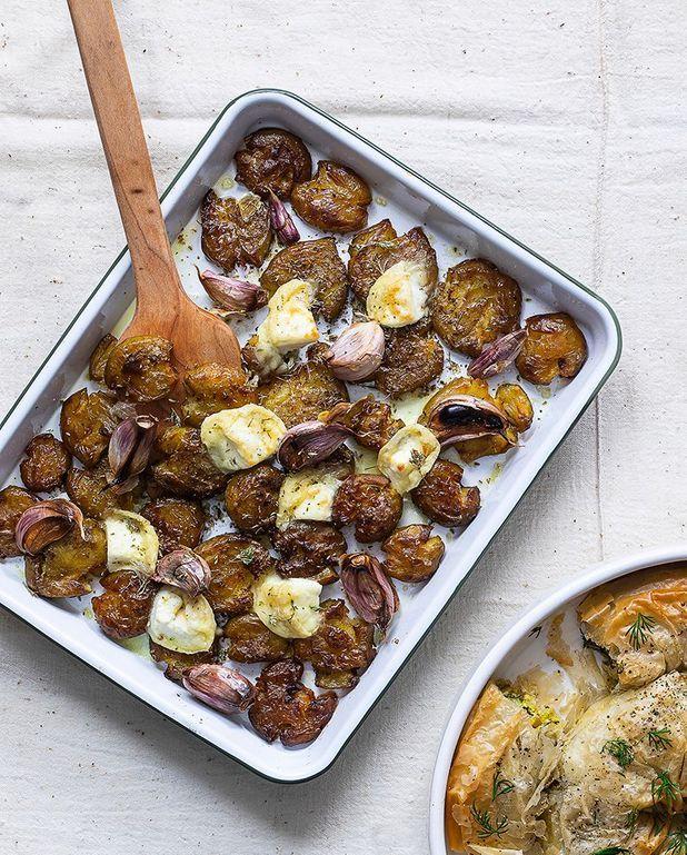Patates tapées au picodon