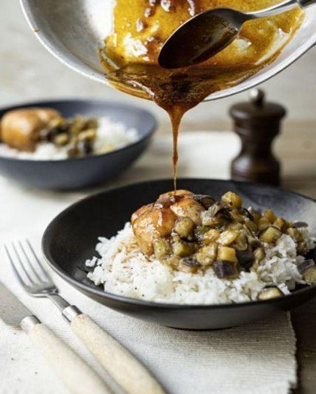Paupiettes de dinde et aubergine fondante au miel et soja