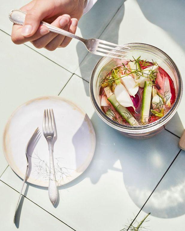 Pickles de radis et concombre