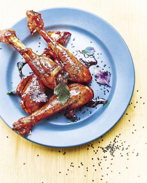 Pilons de poulet laqués