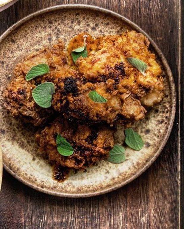 Poulet frit à l'huile piquante