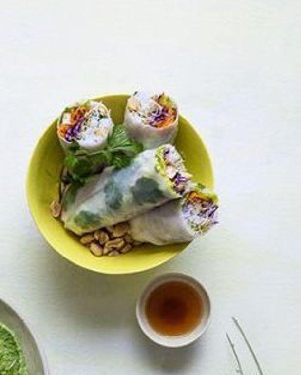 Rouleaux de printemps végétariens aux graines germées