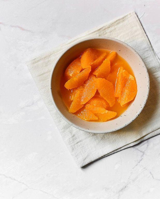 Salade d'orange à l'eau de fleur d'oranger