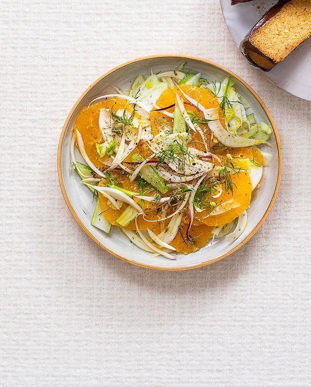 Salade d'orange et fenouil, vinaigrette au Xérès et à l'origan