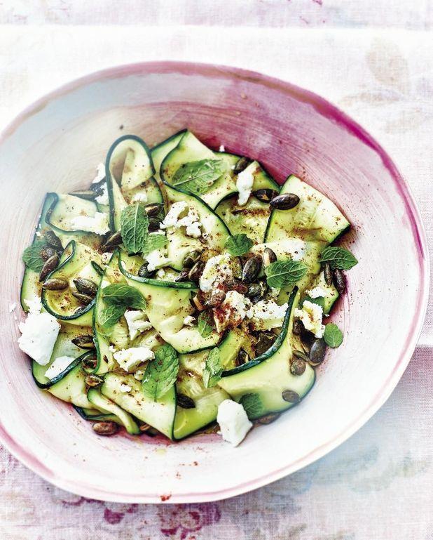 Salade de courgettes grillées feta menthe