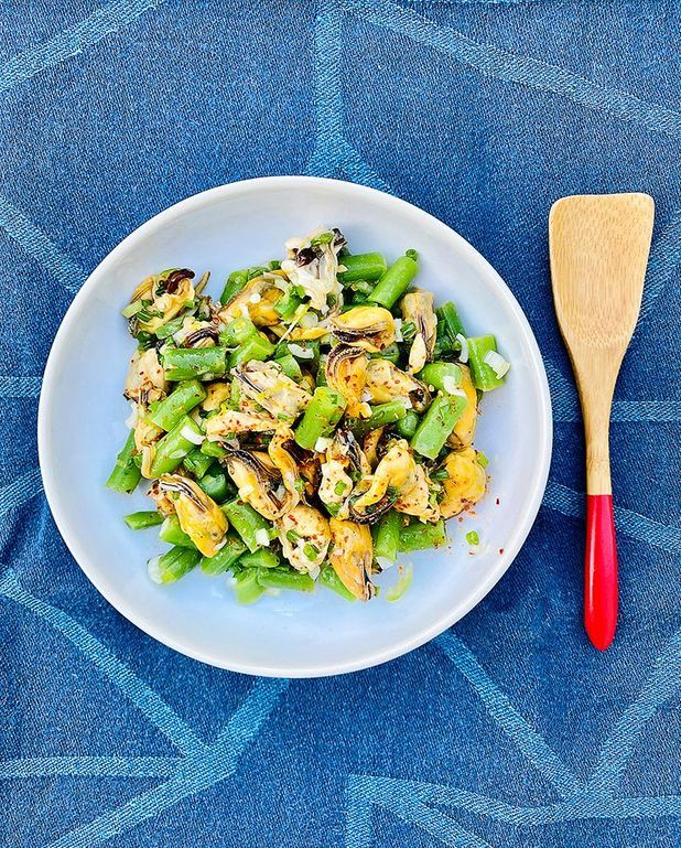 Salade de moules aux haricots verts