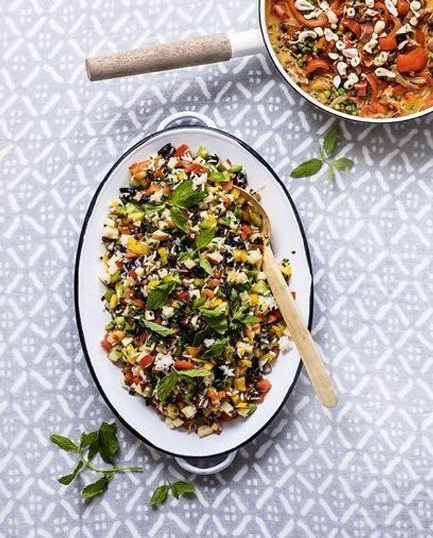 Salade de poivrons et pruneaux
