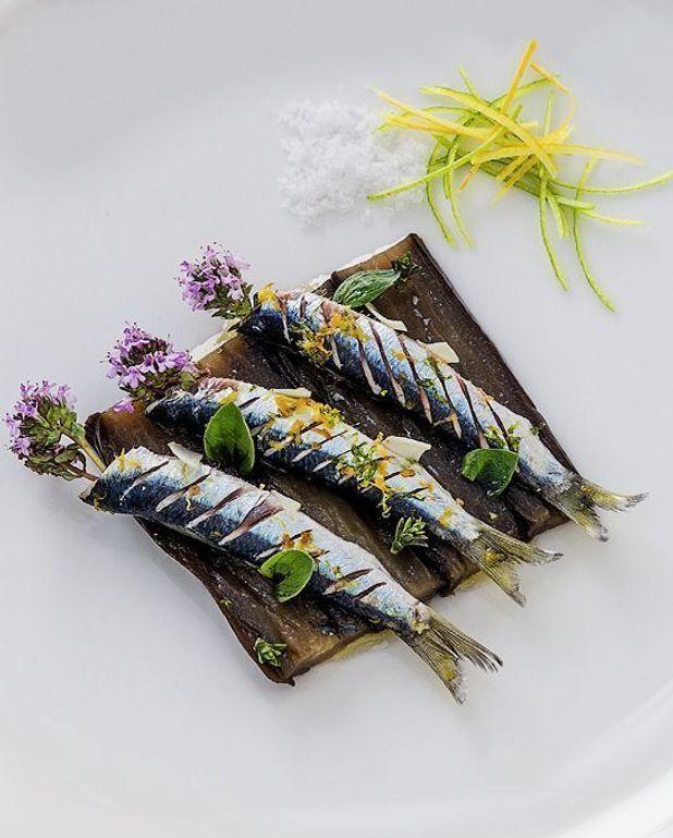 Sardines grillées aux aubergines