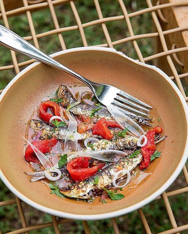 Sardines grillées, vierge de tomate