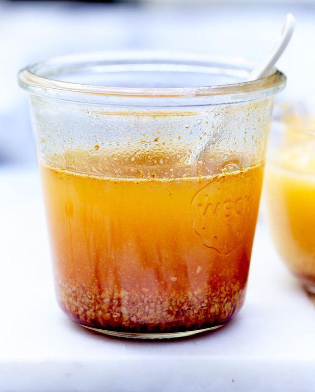 Sauce beurre, safran, miel et pistaches
