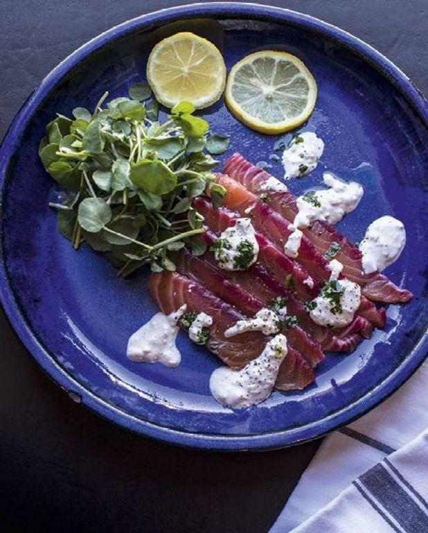 Saumon mariné et sauce tartare