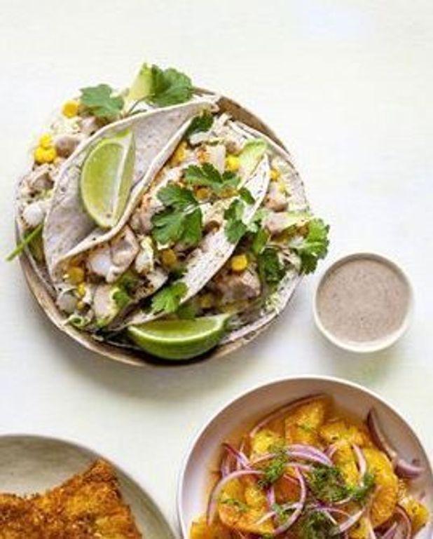 Tacos de merlan grillé au piment