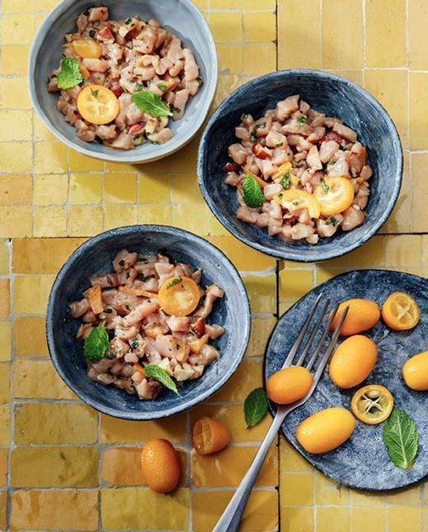 Tartare de veau aux kumquats