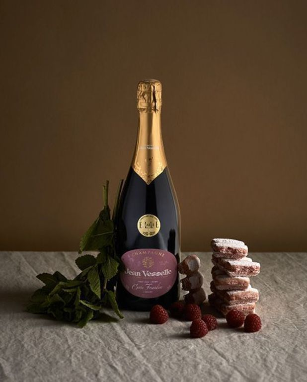 Tiramisù aux framboises et biscuits roses de Reims