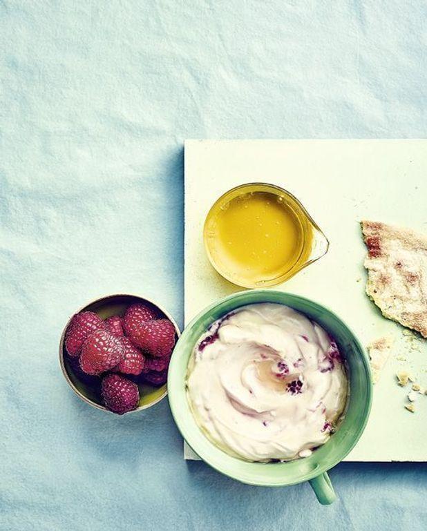 Trifles au fromage de chèvre frais et framboises