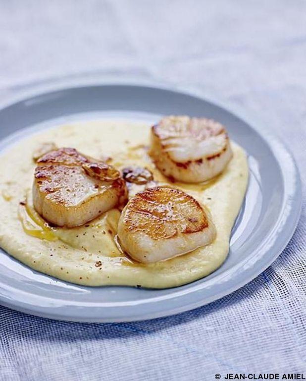 Crème de butternut aux saint-jacques rôties