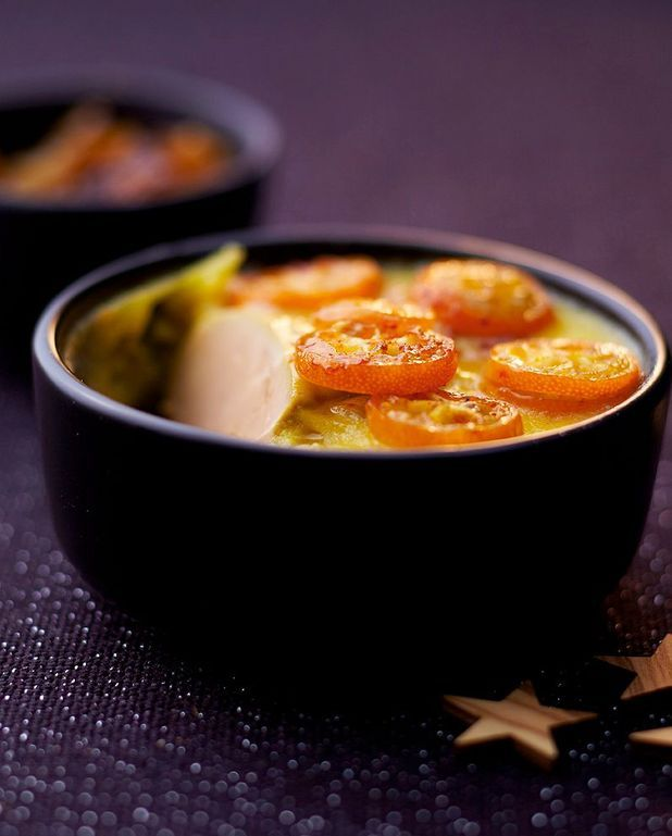 Foie gras aux kumquats confits