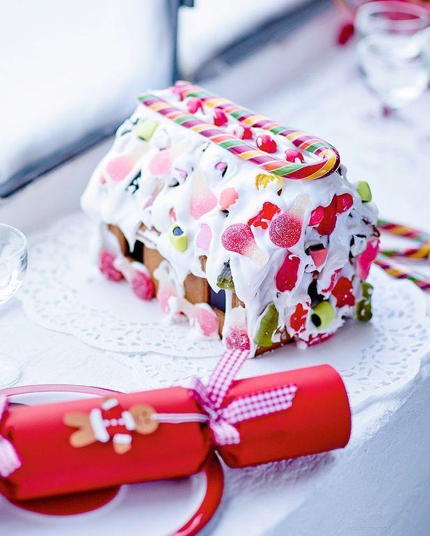 Maison en pain d'épices et bonbons