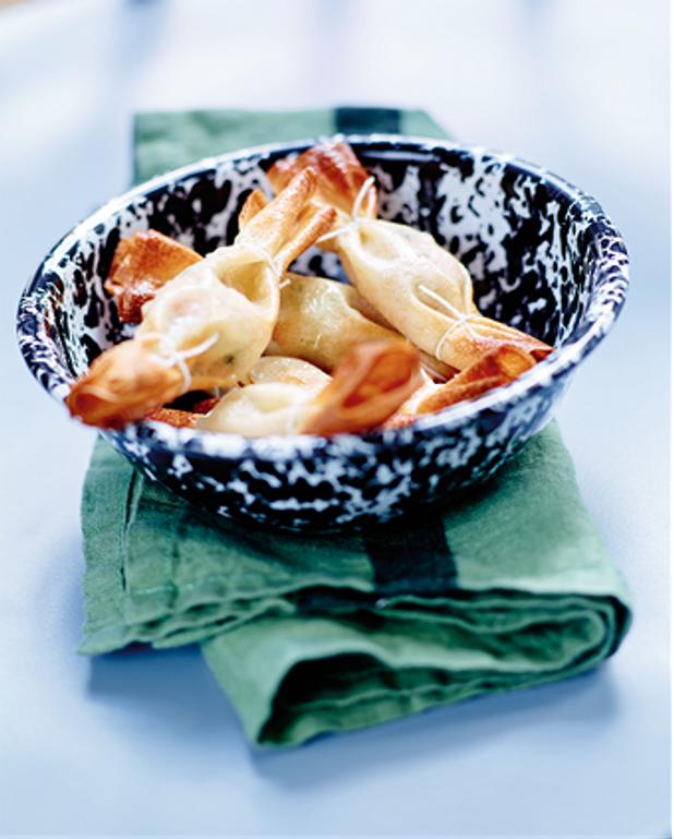 Petits bonbons croustillants au saumon