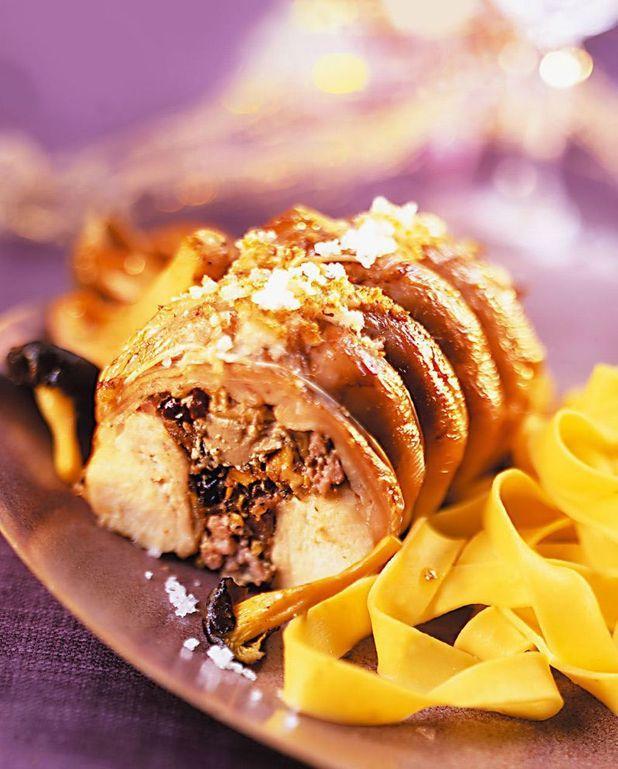 Râbles de lapin farcis aux morilles et au foie gras