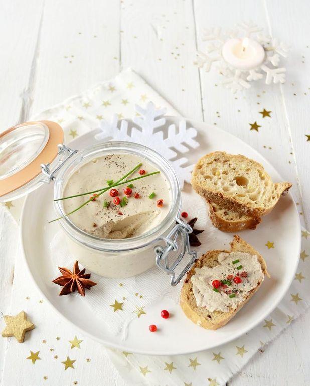 Terrine de Noël vegan champignons et tofu fumé