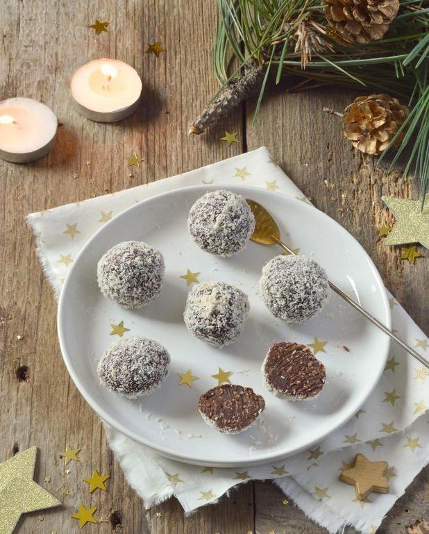 Truffes vegan chocolat noix de coco