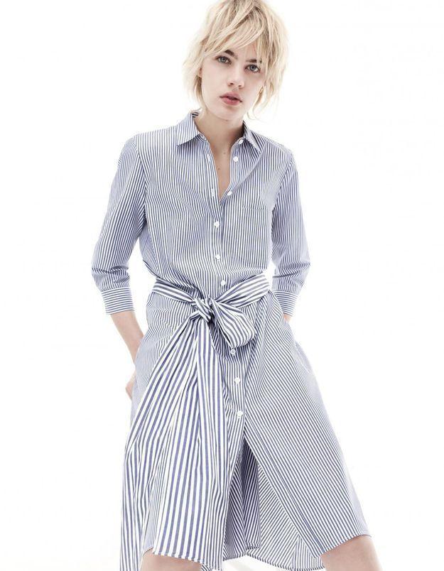 robe chemise soie zara