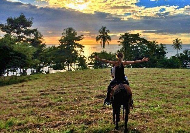 Gisele fait aussi de l'équitation