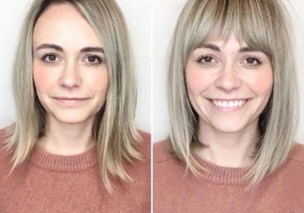 Avant / après : la frange courte