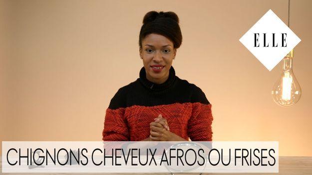 Comment faire un joli chignon sur cheveux afros et frisés : notre tuto