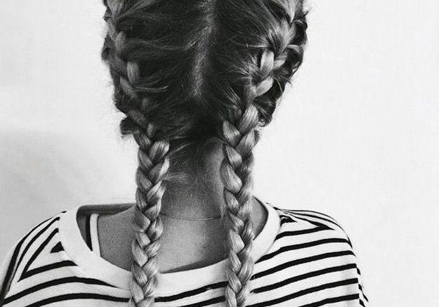 Coiffure cheveux mi longs boxer braids automne-hiver 2016