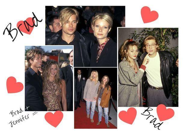 Brad Pitt pique les coiffures de ses girlfriends