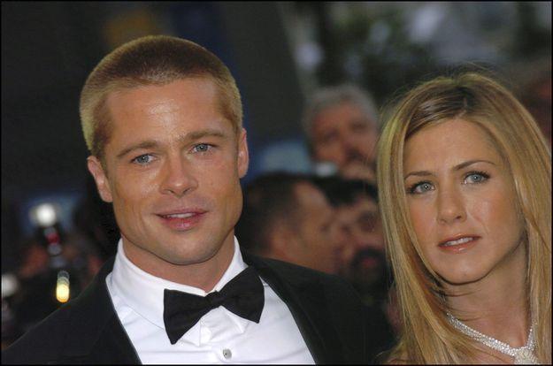 Brad Pitt et Jennifer Aniston en 2004
