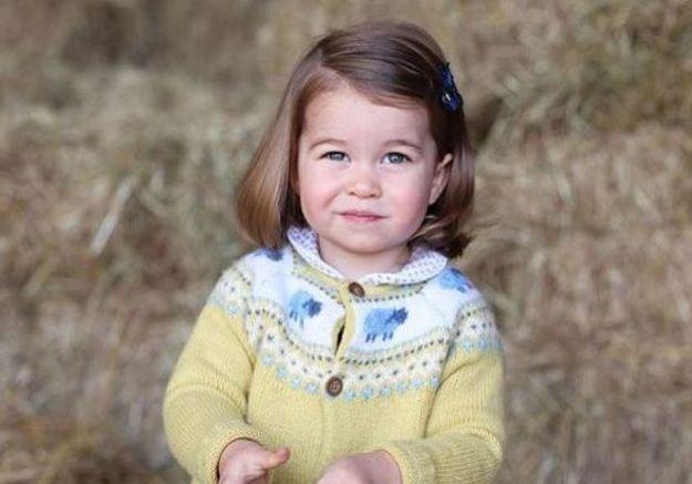 Charlotte prise en photo par Kate pour ses deux ans. Sa petite barrette vient souligner son carré.