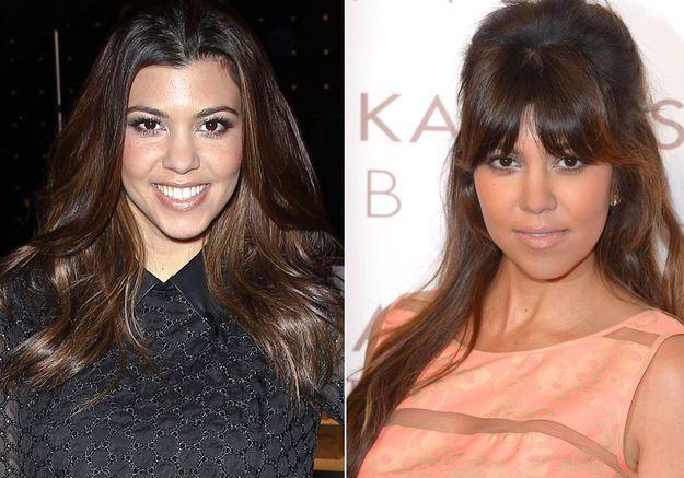 La frange épaisse de Kourtney Kardashian