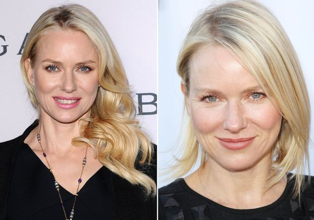 Le carré effilé de Naomi Watts