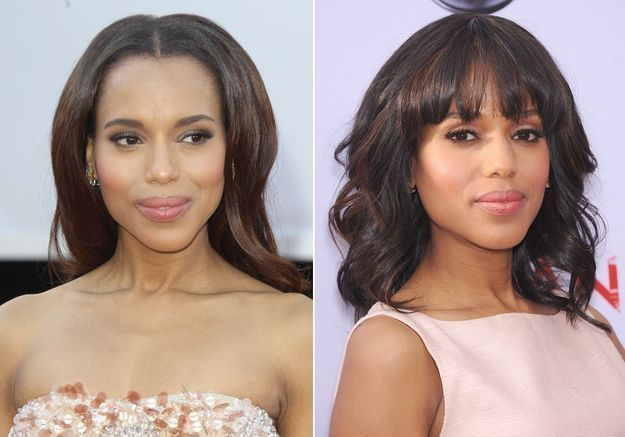Le duo carré frange de Kerry Washington