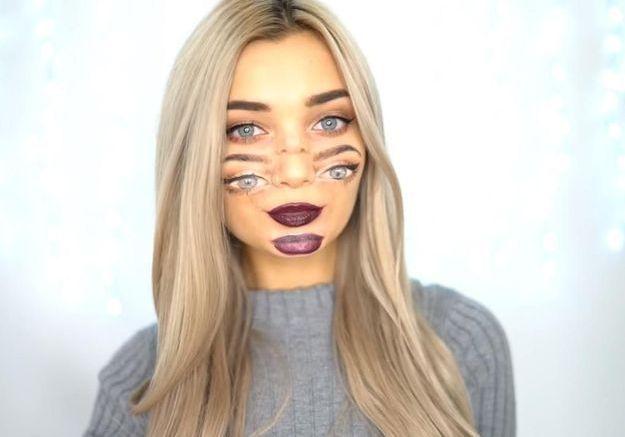 Maquillage Halloween : voir double