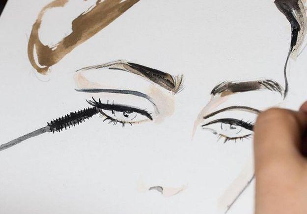 Le look maquillage du défilé Vanessa Sward par L'Oréal Paris @lorealmakeup1