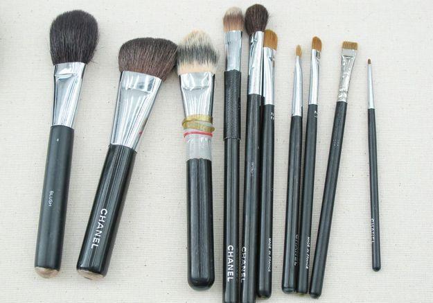 Les pinceaux du maquilleur Peter Philips
