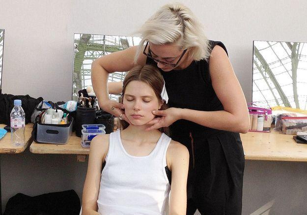 Caroline Brasch en backstage Vanessa Bruno