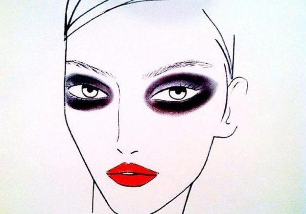 Le look beauté du défilé Derek Laam par Tom Pecheux