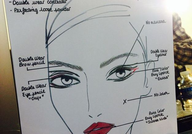 Le make-up chez Anthony Vaccarello