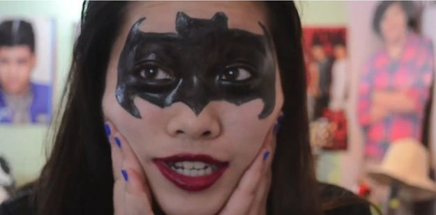 Maquillage d'Halloween pour enfant : Batman
